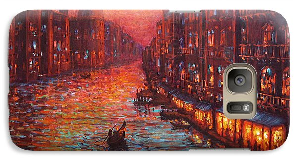 Galaxy Case featuring the painting Ride On The Grand Canal Venice by Cheryl Del Toro
