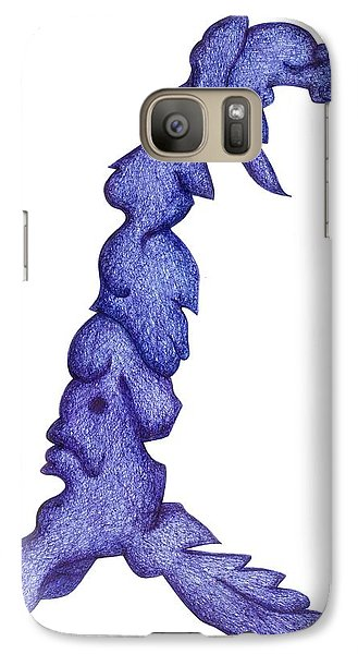 Galaxy Case featuring the drawing Rider On The Storm by Giuseppe Epifani