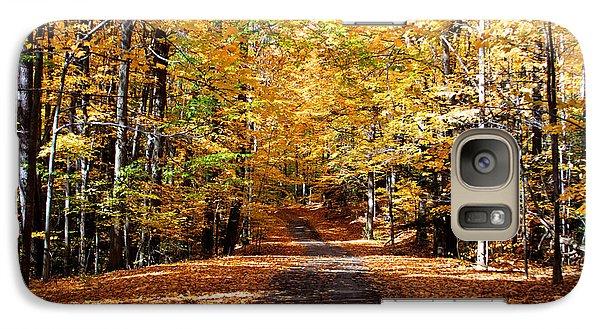 Galaxy Case featuring the photograph Ridge Road In Fall by John Freidenberg