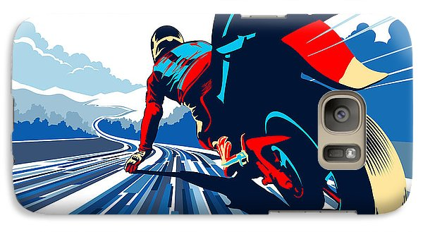 Motorcycle Galaxy S7 Case - Riding On The Edge by Sassan Filsoof