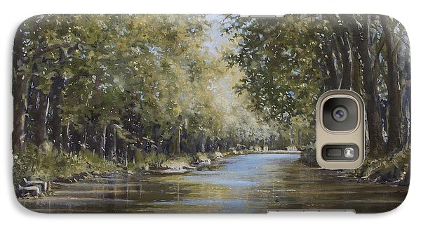 Galaxy Case featuring the painting The Canal by Margit Sampogna