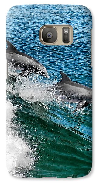 Galaxy Case featuring the photograph Riding The Crest by Sami Martin