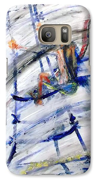 Galaxy Case featuring the painting Riggin by Leslie Byrne
