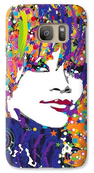 Rihanna In Blue Galaxy S7 Case by Irina Effa