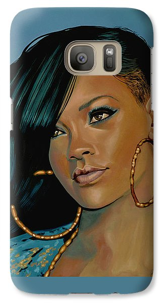 Rihanna Painting Galaxy S7 Case
