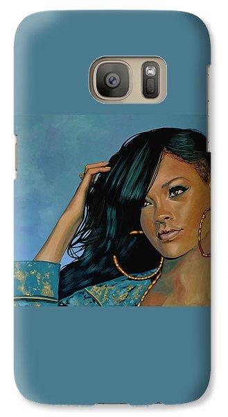 Rihanna Painting Galaxy S7 Case by Paul Meijering