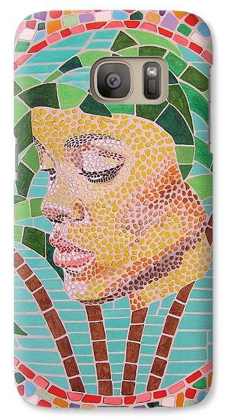 Galaxy Case featuring the painting Rihanna Portrait Painting In Mosaic  by Jeepee Aero