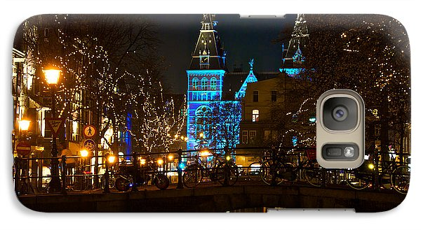 Galaxy Case featuring the photograph Rijksmuseum At Night by Jonah  Anderson