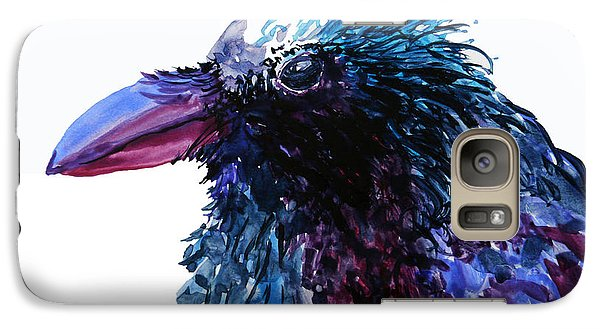 Galaxy Case featuring the painting Riled Raven by Karen Mattson