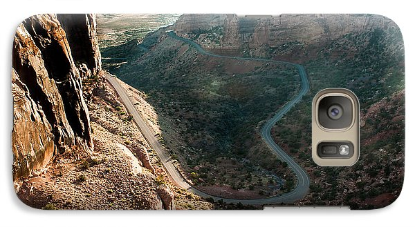Galaxy Case featuring the photograph Rim Rock Drive by Jay Stockhaus