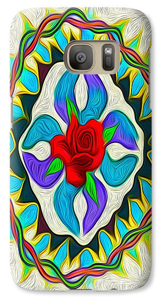 Galaxy Case featuring the digital art Ring Around The Rose by Gregory Dyer
