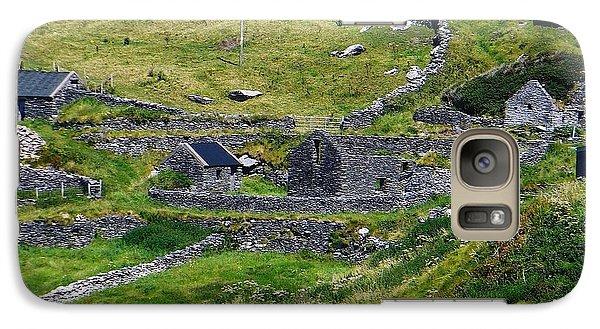 Galaxy Case featuring the photograph Ring Of Kerry Irish Stone by Melinda Saminski