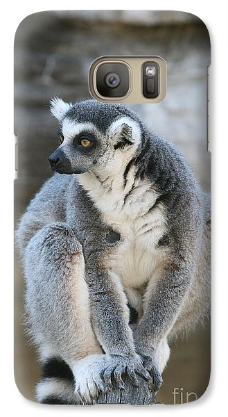 Galaxy Case featuring the photograph Ring-tailed Lemur #3 by Judy Whitton