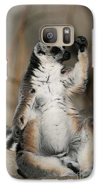 Galaxy Case featuring the photograph Ring-tailed Lemur by Judy Whitton
