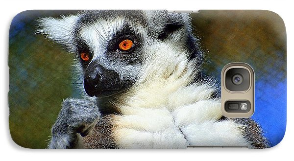 Galaxy Case featuring the photograph Ring-tailed Lemur by Lisa L Silva
