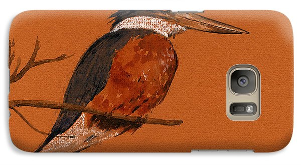Ringed Kingfisher Bird Galaxy S7 Case by Juan  Bosco