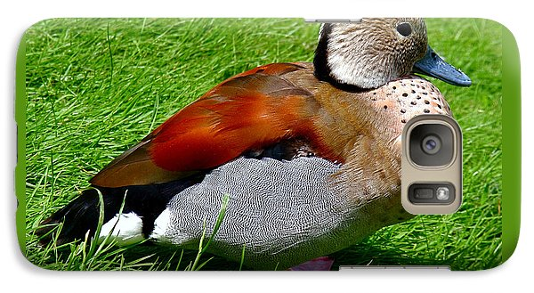 Ringed Teal Drake Galaxy S7 Case
