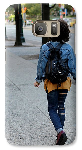 Galaxy Case featuring the photograph Ripped Jeans On The Run by Dorin Adrian Berbier