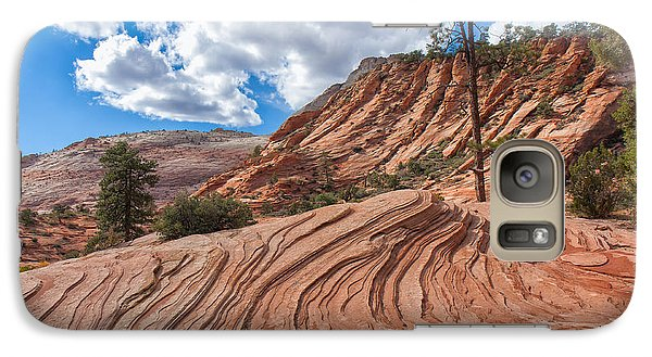 Galaxy Case featuring the photograph Rippled Rock At Zion National Park by John M Bailey