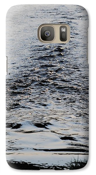 Galaxy Case featuring the photograph Ripples In A V by Ramona Whiteaker