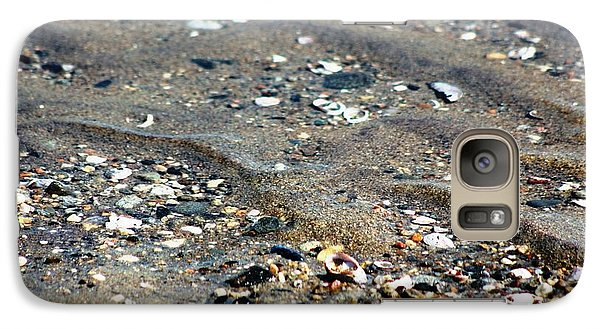 Galaxy Case featuring the photograph Ripples In The Sand by Judy Palkimas