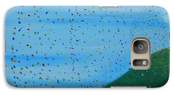 Galaxy Case featuring the painting Ripples Of Life 2 by Tim Mullaney