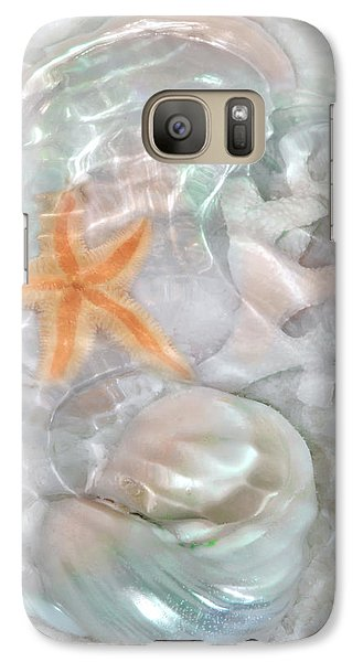 Ripples Of Light On Sand And Shells Galaxy S7 Case