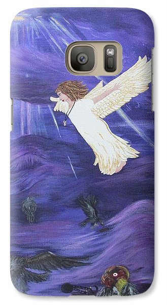 Galaxy Case featuring the painting Rising Above by Cheryl Bailey