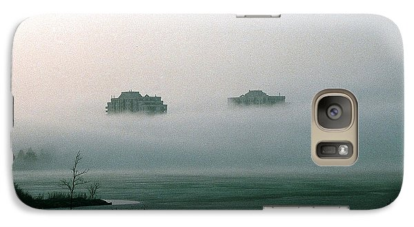 Galaxy Case featuring the photograph Rising From The Mist by David Porteus