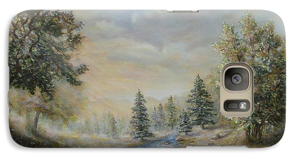 Galaxy Case featuring the painting Rising Mist In The Berkshires In Ma by  Luczay