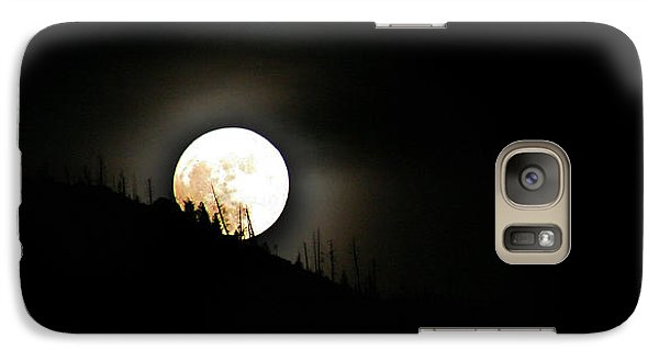 Galaxy Case featuring the photograph Rising Moon by Joel Loftus