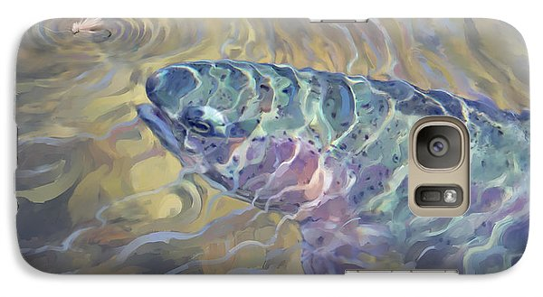 Galaxy Case featuring the painting  Rainbow Rising by Rob Corsetti