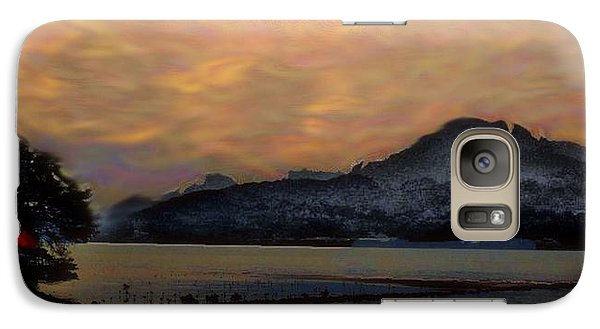 Galaxy Case featuring the mixed media Rising Sun by Terence Morrissey