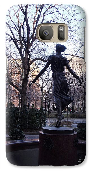 Galaxy Case featuring the photograph Rittenhouse Square At Dusk by Lyric Lucas