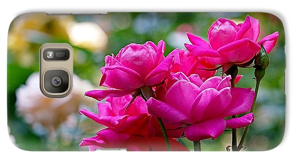 Rittenhouse Square Roses Galaxy Case by Rona Black