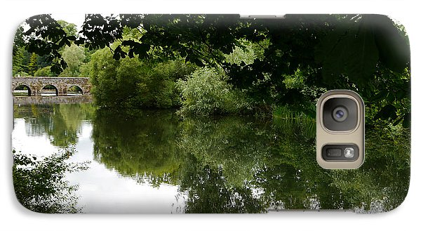 Galaxy Case featuring the photograph River And Bridge by Winifred Butler