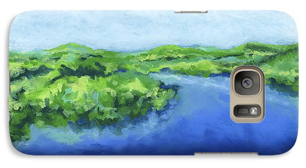 Galaxy Case featuring the painting River Bend by Stephen Anderson