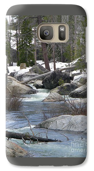 Galaxy Case featuring the photograph River Cabin by Bobbee Rickard
