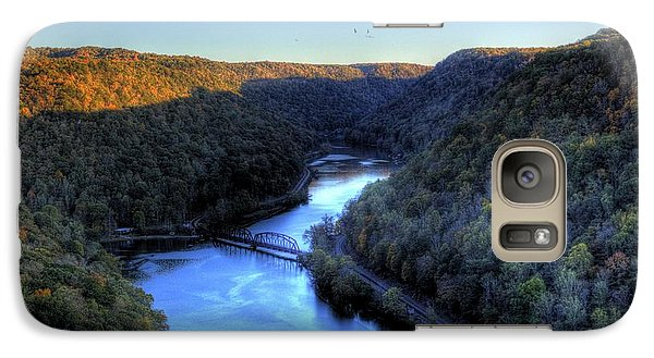 Galaxy S7 Case featuring the photograph River Cut Through The Valley by Jonny D