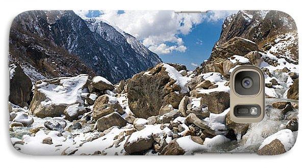 River Flowing Through Rocks, Modi Khola Galaxy Case by Panoramic Images