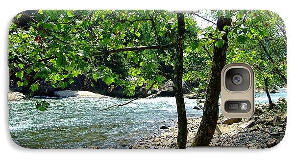 Galaxy Case featuring the photograph River Gorge by Deborah DeLaBarre