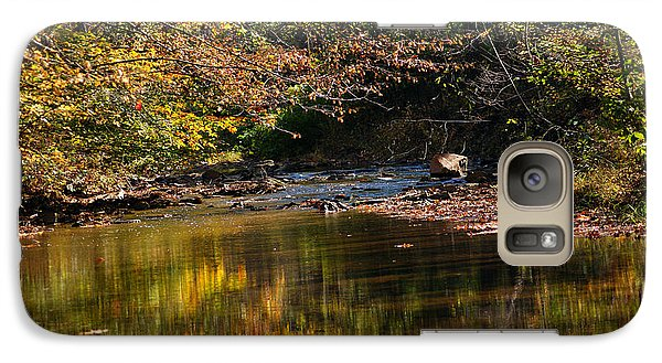 Galaxy Case featuring the photograph River In Autumn by Lisa L Silva