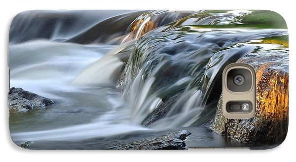 Galaxy Case featuring the photograph River In Slow Motion by Todd Soderstrom