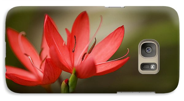 Galaxy Case featuring the photograph River Lily by Liz  Alderdice