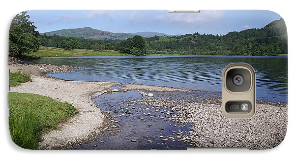 Galaxy Case featuring the photograph River Meets The Lake Rydal Water by Graham Hawcroft pixsellpix