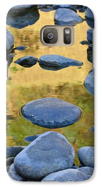 Galaxy Case featuring the photograph River Of Gold by Sherri Meyer