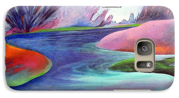 Galaxy Case featuring the painting Blue Bayou by Elizabeth Fontaine-Barr
