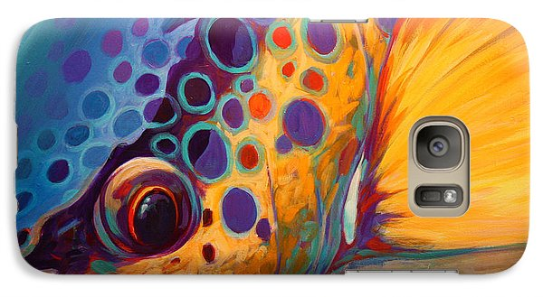 River Orchid - Brown Trout Galaxy Case by Savlen Art