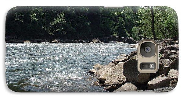 Galaxy Case featuring the photograph River Rapids by Deborah DeLaBarre