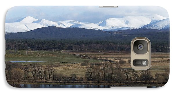 Galaxy Case featuring the photograph River Spey And Cairngorm Mountains by Phil Banks